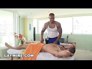 Gaywire bearded straight man brant dickson gets a very gay massage