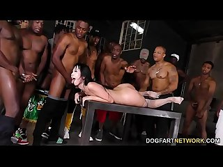Marica Hase Sucks 15 Big Black Cocks And Swallows All The Cum
