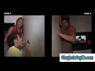 Straight man gets a blowjow from a gay man in gloryhole
