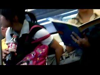 Bajo falda de secu pl el metro Upskirt