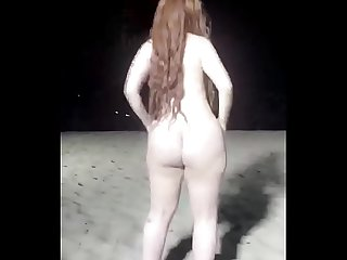 Nadia Ali New Video on Night Beach Dancing video hothdx