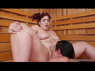 Alt shemale fucks bbw in sauna