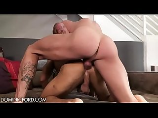 Amazing creampie by two muscle Boyfriends