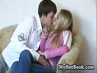 Adorable blond lovely penetrated and cummed on