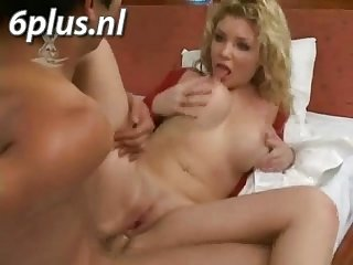 Girl with nice boobs getting anal fucked
