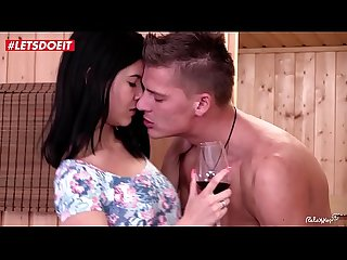 Cum On Tits at the sauna with Czech Teen babe Lady Dee