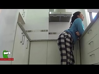 Horny fucked in the white kitchen san388