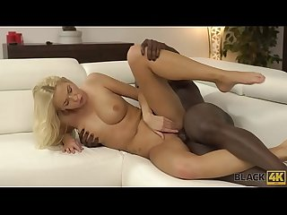 Black4k blonde girl knows huge dick can t be replaced by a vibrator