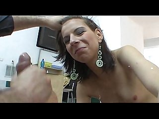 Chick does Anal bj and rough Sex at the first casting