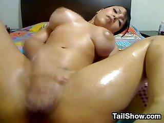 Sexy brunette cam slut