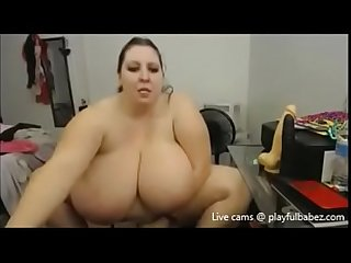 Huge tits bbw gets naked playfulbabez com