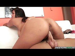 Hot asian rides cock