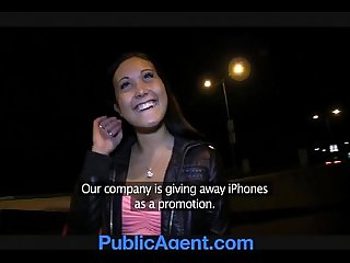 Publicagent gullible but beautiful brunette pussy gets pounded