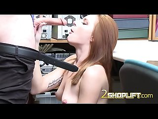 Redhead screaming out of pleasure with GUARDs monstercock