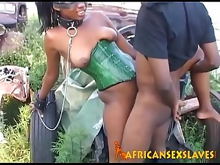 Hard Sex With Her Master Makes Obedient African Girl Scream In Orgasm