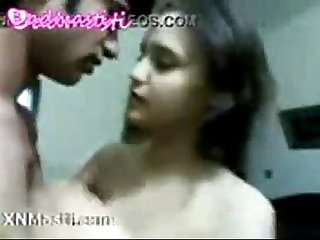 Hot indian teen lovers kissing again and again
