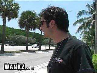 Wankz blonde teen sucks cock in the back seat excl