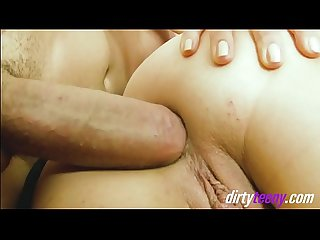 Hot slut gets her pussy and ass hole stretched during a hard long fuck with a huge cock resulting to