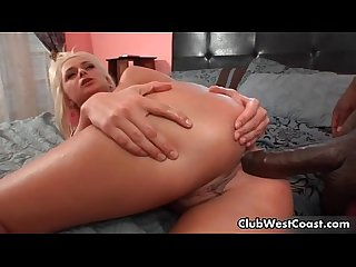 Super cute blonde babe is in pain