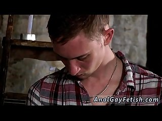 Gay teen male fetish movie Chained to the warehouse floor and