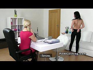 European lesbians had orgasms in casting