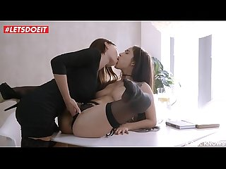 LETSDOEIT - Kinky Lesbian Teens Love Fucking on the Dining Table