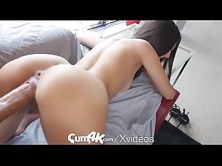 CUM4K Latina pussy drenched in oozing cum - multiple creampies