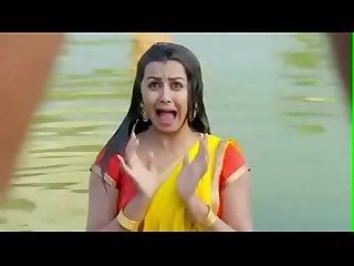Indian actress Nikki galrani hot show Cleavage boobs