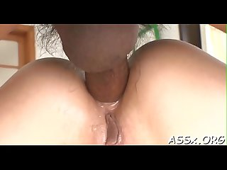 Naughty oriental oral stimulation and shaving