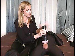 Domina uses fleshlight on slave fleshlightcity com