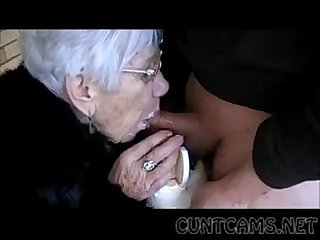 Granny sucks boys cock for her birthday more at cuntcams net