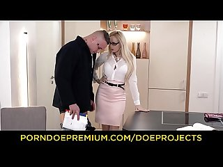 KINKY TUTOR - Hot MILF Angel Wicky seduces & bangs student