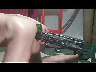 Massive monster dildo hard enema cock