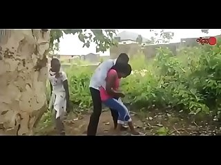 African nigerian ghetto boys gangbang a virgin / part 2