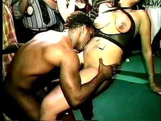 Underground black stripper sex party homemade