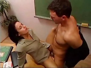 Hot teacher fucked in classroom