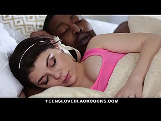 Teensloveblackcocks teen wakes up hot step brother to fuck