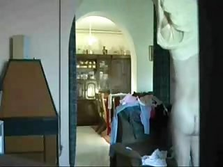 My mom nude home alone caught by hidden cam