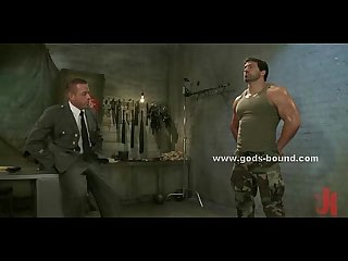 Huge gay soldier bondage sex video