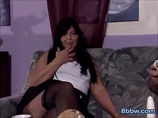 Thick granny seduces her younger friend 8bbw com