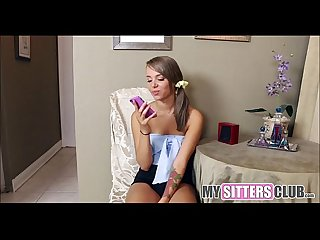 Cute teen babysitter with Braces fucks client mysittersclub com