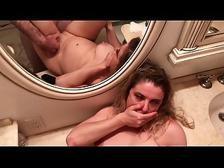 Surprise creampie impregnates stepmom