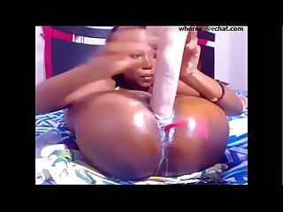 Flexible ebony plays big dildo and fingering free at whoreslivechat com