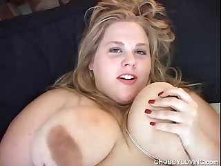 Cute bbw has lovely big tits