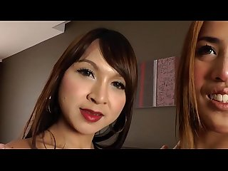 Ladyboy amateurs masturbating together and loves it