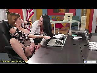 GIRLSWAY - Having Anal Sex To Get The Job - Abella Danger, Angela White and Krissy Lynn