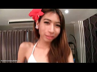 Ladyboy crystal penthouse smoking bareback