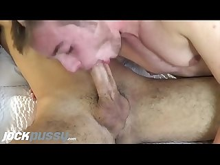 JockPussy - The handsome Luke Hudson takes monster dick up his FTM pussy