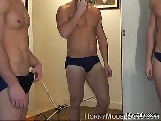 blowjob jerking gay straight