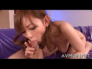 Pretty youthful mama seduces guy